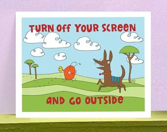 Go Outside - giclee print