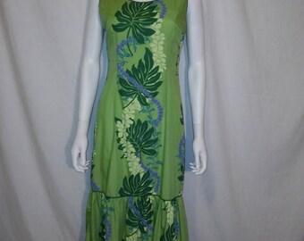 Closing Shop Sale 40% Off Hawaiian Dress, 80s 90s Vintage dress, Made in Hawaii USA