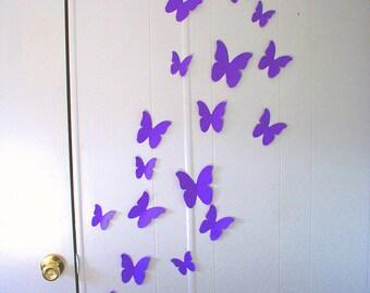 3D Wall Decor, Butterflies Wall Decor, Babys Room Decorations, Custom Wall Art, Childrens Wall Art, Custom Wall Decorations, 3D Butterflies