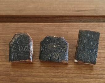Little Houses Push Pins | Ceramic Push Pin | Cute Thumbtacks | Tiny Thumbtacks | Brown Houses | Brown Thumbtacks| Cute Office Supplies