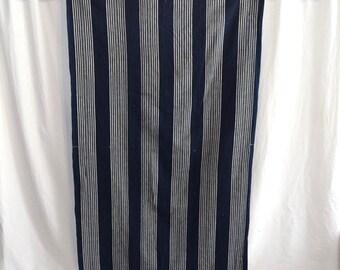 Vintage Japanese Small Futon Cover Indigo Cotton - Indigo Stripes