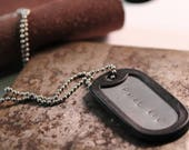 Customizable dog tag necklace with silencer