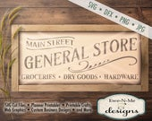 General Store SVG - groceries dry goods hardware svg - general store cut file - farmhouse style svg - Commercial Use svg, dfx, png, jpg