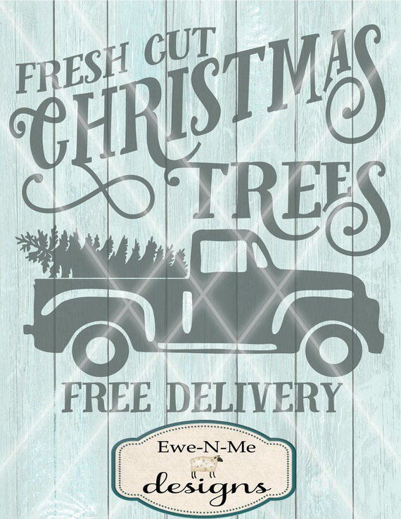Christmas Tree Svg Old Truck Svg Truck With Christmas