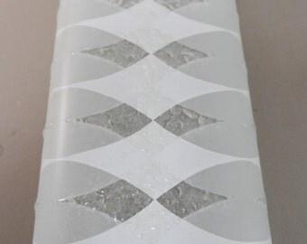 "Mid Century Vanity Four Light Fixture Vanity Light Bar 24"" 3 tone Argyle pattern"