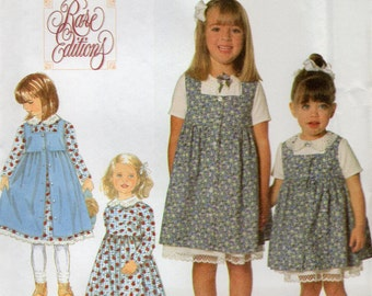 Simplicity 7634 Toddlers and Child's Dress and Pinafore Size 1/2, 1, 2 Uncut Pattern