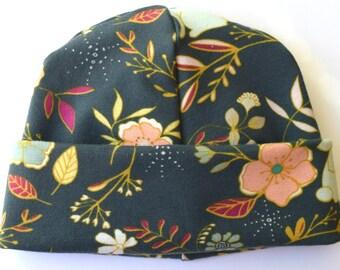 Art Gallery Nightfall Floral Newborn Baby Hat