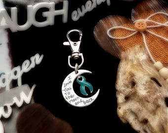 TE-3 PTSD Awareness Sexual Assault Survivor Anxiety Awareness Keychain I Love You To The Moon & Back