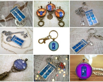 ADVERTISEMENT ONLY, Dr Who Necklace, Whovian Necklace, Time Lord Jewelry, Dr Who Jewelry, Tardis Charm Necklace, Tardis Jewelry