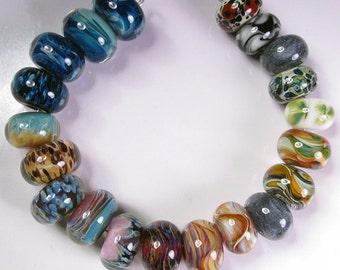 Lampwork Boro Beads, Lampwork Beads, Orphans Beads  - BBGLASSART, Orphans 20