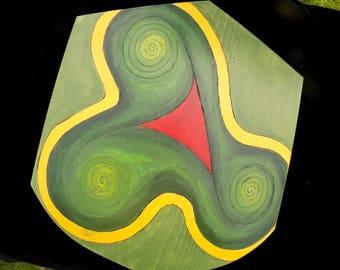 Triple Spiral Toy Wooden Shield