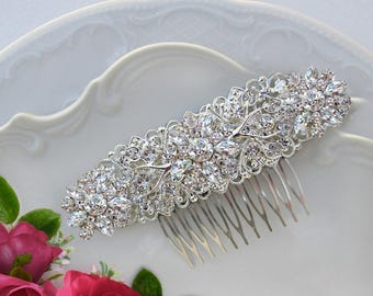 Wedding Accessories, Bridal hair piece, wedding hair comb, Brooch Comb, Bridal Head Piece, Crystal Comb, wedding hairpiece, Large hair clip