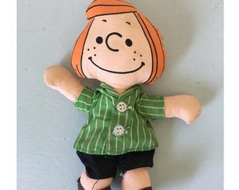 Vintage Peppermint Patty Doll Peanuts character doll Made by Ideal Toy Corp 1966 United Feature Syndicate Inc