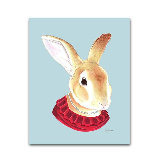 Lady Rabbit print 5x7