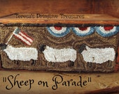 E Pattern Punch Needle Sheep on Parade