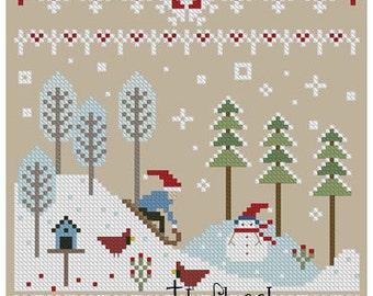 Snowy Hills Cross Stitch Pattern