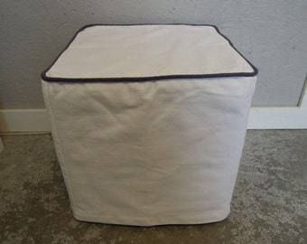 Ottoman Slipcovers with Piping, Custom, Cube, Bench, Ottoman Slipcover, Joy 2 and Joy3 Fabric Lines