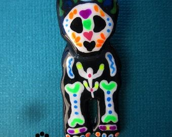 Sugar Skull Australian Cattle Dog Halloween Pendant Dog Art Jewelry C4