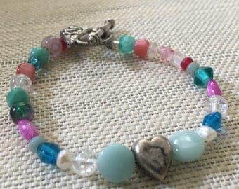 Heart & Rose Bracelet