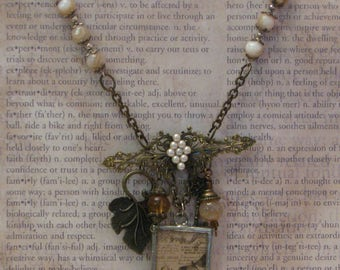 Vintage Assemblage Jewelry - Assemblage Necklace - Vintage Inspired Necklace - Boho Necklace - Repurposed Vintage Jewelry
