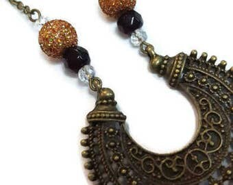 Bronze scalloped Necklace