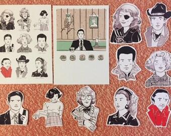 Twin Peaks Invitation to Love - x9 Stickers and x2 postcard set