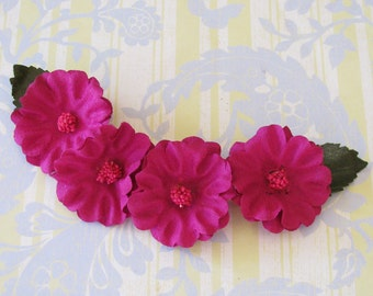 Bewitching Pink...Vivid Vintage Millinery Flower Trim