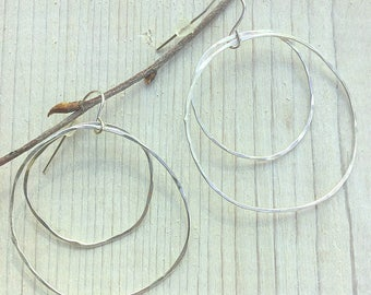 Hand forged Solid Sterling Silver Funky Earrings