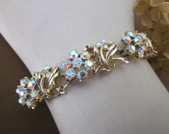 Vintage Aurora Rhinestone Bracelet