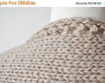 January Sale Hand Knit Reversible Writer's Shrug. Hand Knit Women's Shrug - Cozy Handknit Sweater Made to Order - Toasty Knit Woolen Shrug/S