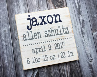 Personalized Birth Announcement | Birth Stats | Typography | Baby sign | Birth Announcement | wood sign | Nursery | Children | Style#CH3