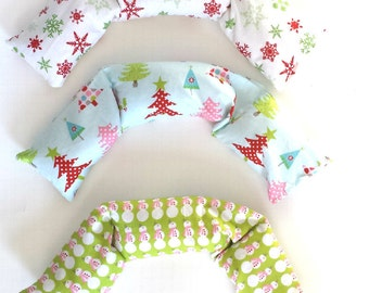 Herbal Neck Wrap, aromatherapy pillows, Relaxation Therapy:  DESIGN your own,  HOLIDAY FABRIC hot/cold therapy microwaveable  Rice