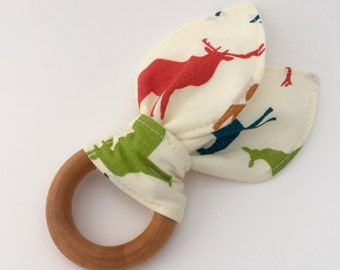Natural Wooden Teething Ring in Elk Grove (Organic)