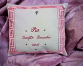 Personalised Birth Announcement Pillow Reserved for Ihspf