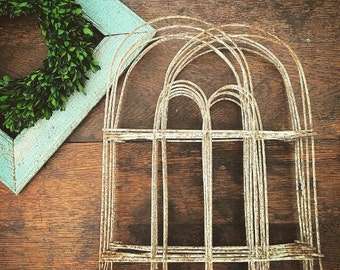 Dont Fence Me In... Vintage Hairpin Wire Metal Garden Fencing Fence Architectural Salvage Chippy Cottage Farmhouse Decor