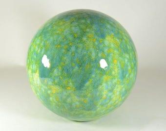 8 Inch Ceramic Gazing Ball Meadow