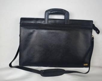 Vintage Pierre Cardin Briefcase  black attache