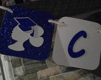 Graduation glitter banner