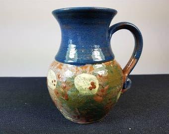 Vintage Studio Art Pottery Pitcher Jug Vase Devon England Handmade