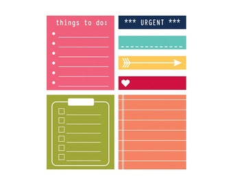 To Do Day 2 Day Planner Sticky Notes 7/Pkg (280 pieces) Jillibean Soup • Office Supplies • Desk Accessories (JB1220)