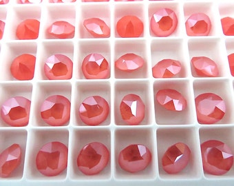 12 Light Coral Swarovski Crystal Chaton Stone 1088 39ss 8mm
