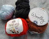 Cotton and wool Yarn lot