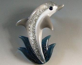 Lampwork Dolphin Pendant