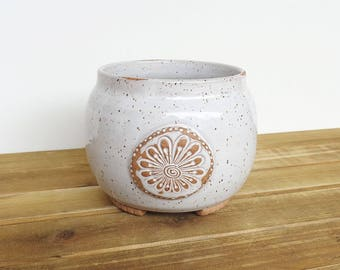 Stoneware Orchid Pot Etsy