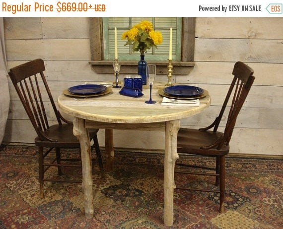 """20% OFF SALE Driftwood Dining Room Table (38"""" Round x 29""""H)"""