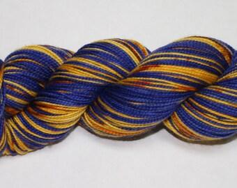Exploding Tardis Self Striping Sock Yarn
