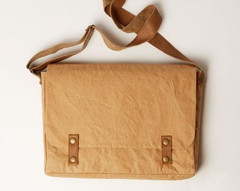 Paper & Leather Messenger Bag