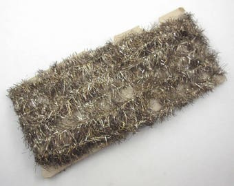 Vintage Antique German Silver Gold Christmas Tinsel Garland Approx. 14 Feet or 5 Yards Lot B