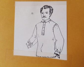 Reproduction Antique Shirt Pattern from 1860 Raiments Shirt Pattern Men's Victorian Shirt Pattern UNCUT sewing pattern Size Medium Large