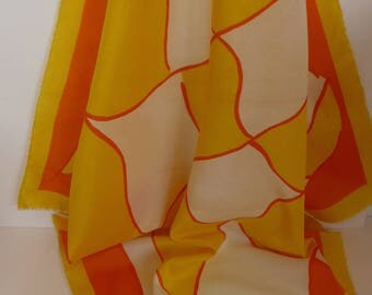 Vintage Vera 60's Abstract Polyester Scarf